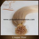 Ponta lisa das extensões pre ligadas brasileiras do cabelo da queratina de Italia do Virgin