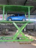 Scissor o tipo elevador vertical do carro com telhado