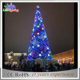 3D LED Gigante Silver Christmas Tree Decoration com Snowflakes Light