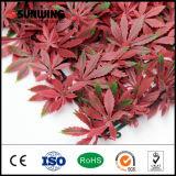 Plantas artificiales rojas especiales de las hojas del último diseño para la decoración del jardín
