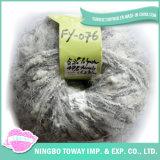 Fio extravagante barato de confeção de malhas do Boucle acrílico cinzento do poliéster do bebê (FY-076)