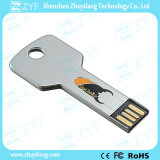 Silver Of metal Of aluminum Of key Of shape Of flash Of drive of with Of logo (ZYF1732)