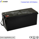 Bateria acidificada ao chumbo 12V180ah do AGM da longa vida para o armazenamento de energia