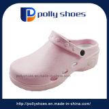 까만 여자 또는 분홍색 PVC T 결박 샌들