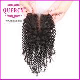 Afro норки оптовой продажи закрытия 100 человеческих волос закрытие шнурка Silk низкопробного Kinky курчавое