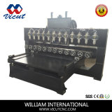 Multi Head CNC Machine Table Moquette Carving Rotary Wood CNC Router (VCT-TM2512R-12H)