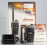 Pequeña radio de dos vías barata Handheld de la frecuencia ultraelevada del VHF de la radio Lt-002