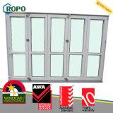 Einfacher beweglicher UPVC/PVC außenplastik, der faltende Glastür schiebt
