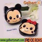 Batería portable linda al por mayor de la potencia de Mickey Mouse con RoHS