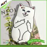 Белый случай крышки/мобильного телефона мобильного телефона силикона кота