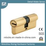 cilindro de cobre amarillo de la cerradura de la alta calidad de 70m m de la cerradura de puerta Rxc21