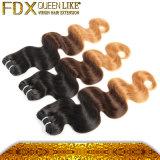 着色されたブラジルの毛の織り方の完全なクチクラのバージンの人間の毛髪のディストリビューター