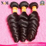 Os melhores pacotes ondulados de venda do cabelo humano da onda frouxa brasileira do cabelo do Virgin dos Web site 7A