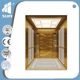 com o elevador residencial da cabine pequena gravura a água-forte de Vvvf do quarto da máquina