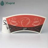 La coutume de Hztl (BRC, FSC, OIN, FDA, GV) a imprimé tasse chaude de 12 onces/froide de papier de boissons avec le couvercle