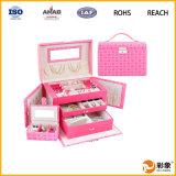 Contenitore di monili di lusso su ordinazione impaccante dei contenitori di regalo multiuso di cuoio dell'unità di elaborazione