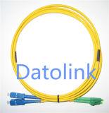 Sc/APC-LC/Upc Sm 단순한 광섬유 접속 코드