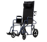 """Manual en acier Reclining Wheelchair (YJ-011L) 12 """" et 24 """" Rear Wheels Exchangeable."""