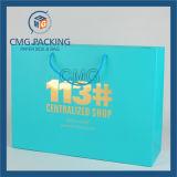 Bolsa de papel azul del regalo de la laminación de Matt de la impresión (DM-GPBB-138)
