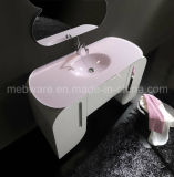 Vanité modernes de salle de bains de PVC de zone blanche, meubles simples de salle de bains