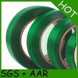 Animal de estimação 1608 gravado verde que prende com correias a faixa