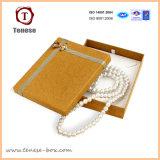 Elegante caja de joyería de plata redondo con el Escaparate