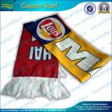 Écharpe de polyester d'allumette de jeux de passionés du football du football (T-NF19F10006)