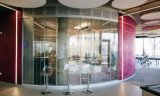 Curved commerciale Glass Partition per Shop Mall