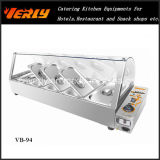 Sale chaud Commercial Food Warmer, Electric Bain Marie avec Curve Glass 7 Basins, CE Approved (VB-96)