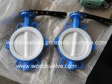 PTFE revestiu completamente a válvula de borboleta industrial do corpo dois PCS com o Ce & o ISO aprovou (D71X-10/16)