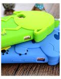 Caixa traseira do telefone de pilha do silicone de Popeyes do verde azul animal bonito do ponto para Huawei P8 P9lite (XSD-062)