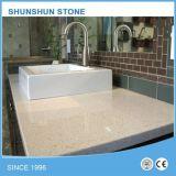 Bbeige/console Ivory/Khaki do Countertop/da pedra de quartzo para a mobília da cozinha