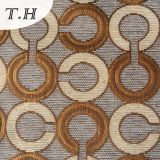Sofá de alto grado circular de la tela del telar jacquar tricolor del Chenille 2016