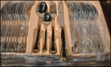 Ouro Plated 72-84PCS Stainless Steel Flatware Cutlery Set