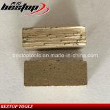 Segments de marbre de découpage de diamant de bloc pour le découpage en pierre
