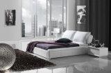 가정 가구 현대 덮개를 씌운 가죽 침대 Hc179