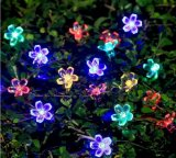 Flores del melocotón de la luz de la cadena de la energía solar 50-LED por el Nuevo-Año Lh-Ss01 de la boda de la Navidad