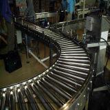 Transporte de rolo curvado com corrente