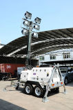 Serie T1000 con el conjunto de generador móvil de la torre ligera de 10kVA 403D-15g/el generador diesel