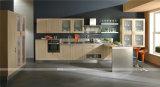 Diseño libre modificó moderna de madera sólida del gabinete de cocina