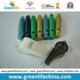Bobina plástica dos presentes W/Customized Logo&Wrist do assobio claro liso especial