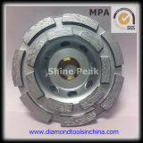 Concrete Floor를 위한 100mm Double Row Diamond Cup Grinding Wheel