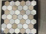 Mosaico di pietra di marmo naturale di esagono bianco di Carrara per le mattonelle di ceramica della decorazione (FYSSC351)