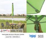 Большой алюминиевый дешевый складывая зонтик с основанием для сбывания