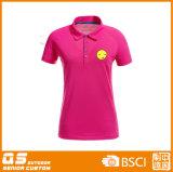 T-shirt de collier de polo de l'impression des femmes