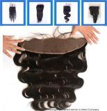 ブラジルのバージンの毛100%の人間のレースの閉鎖のHairpieces