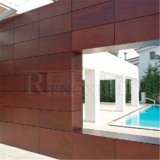 Hölzernes Oak Grain Finished Aluminum Honeycomb Panel für Facade