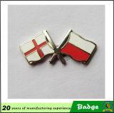 Distintivi su ordinazione di Pin della bandierina del doppio del metallo
