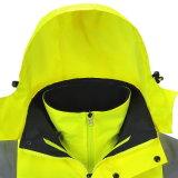 Workwear riflettente di sicurezza del parka del rivestimento di alta visibilità