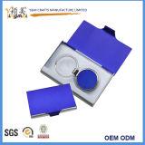 Sostenedor de cuero especial de la tarjeta de visita de la PU de la alta calidad con insignia modificada para requisitos particulares